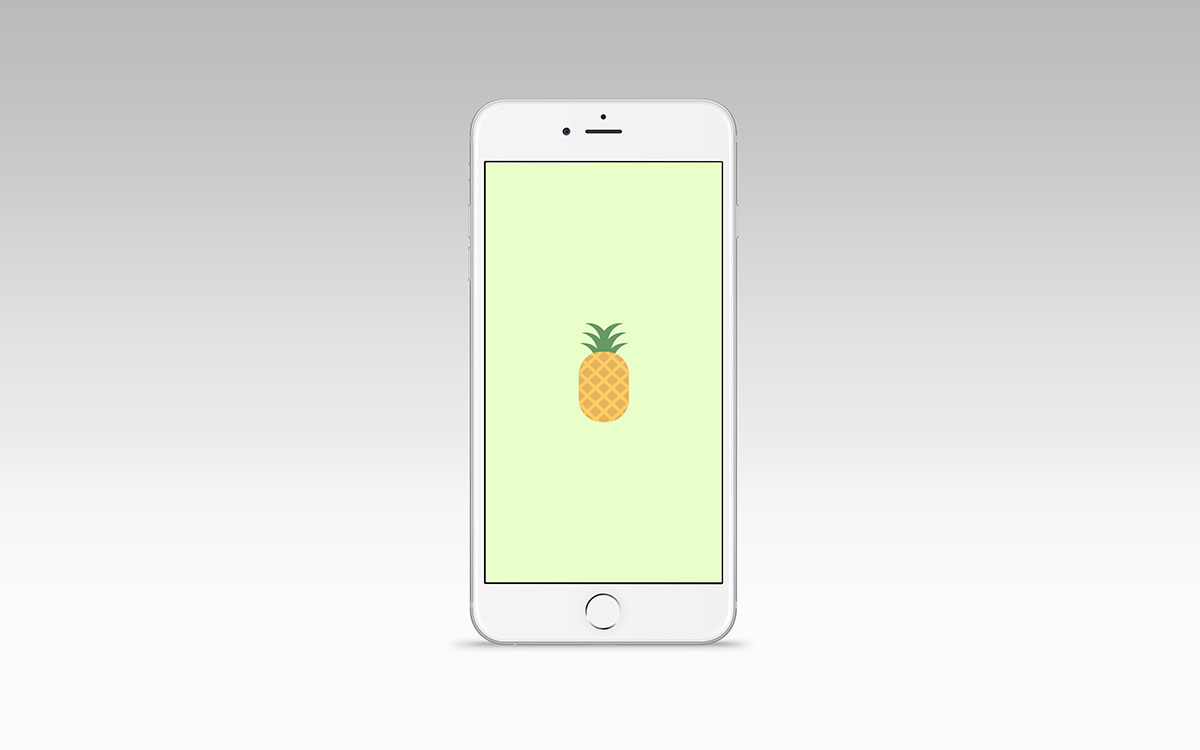 Green Pineapple website on a mobile device